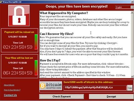 WannaCry vírus